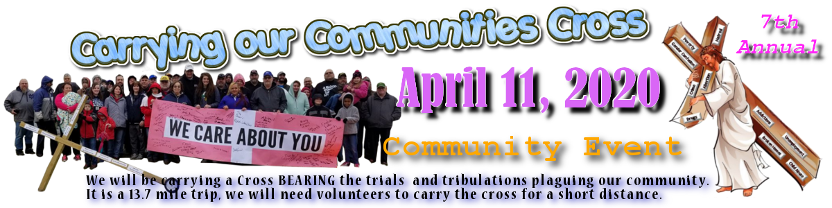 Carrying our Communities Cross Logo